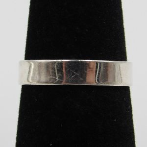 Size 6.25 Sterling Silver Simple Plain Band Ring
